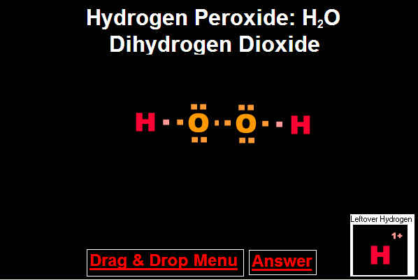 Answer To Drag And Drop Hydrogen Peroxide Molecule
